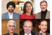 Collage photo of Ajay Banga, Ellen Davis, Robert Dow, Barbara Friedman, Maurice Greenberg, Ronay Menschel