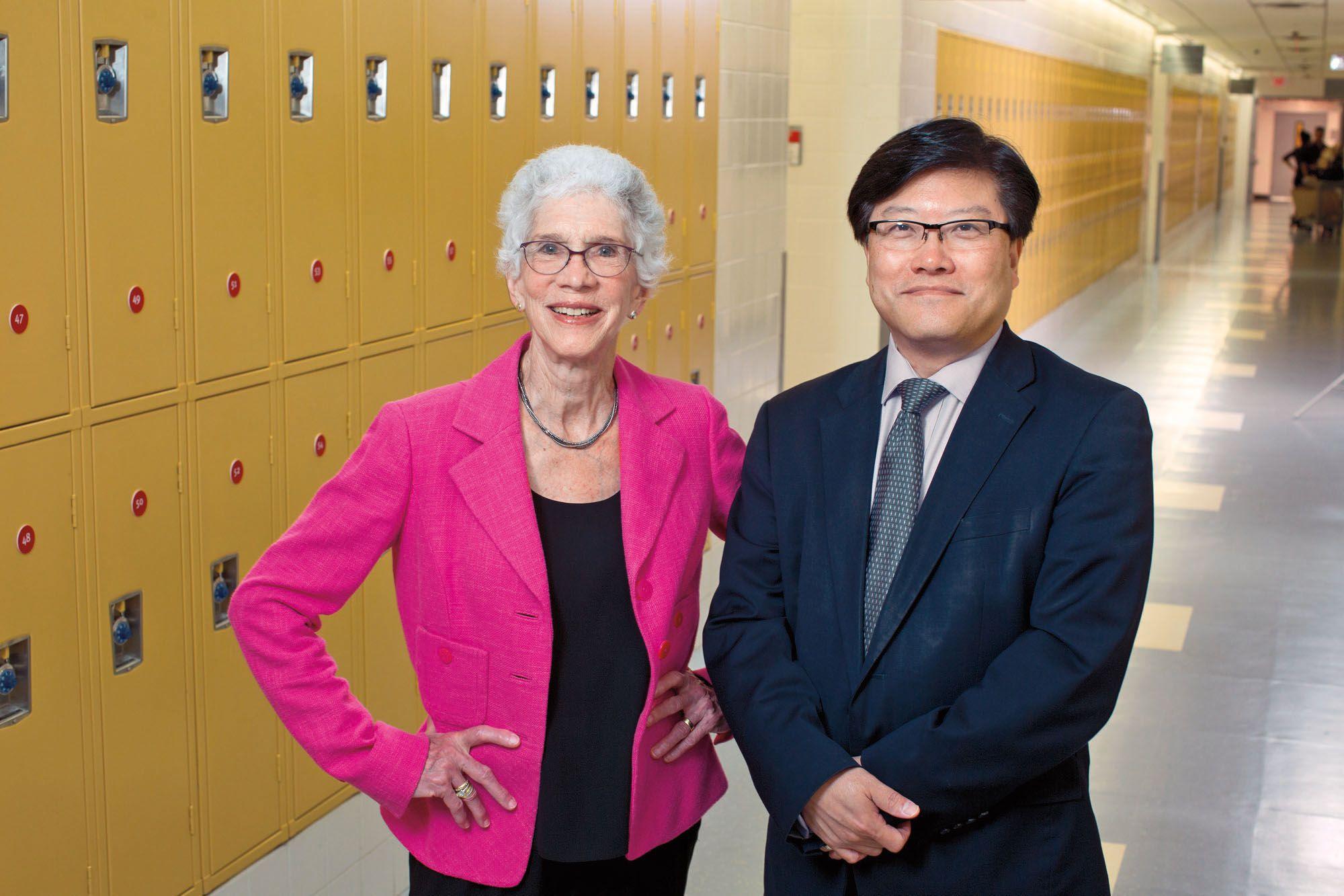 Barbara Friedman and Dean Augustine M.K. Choi