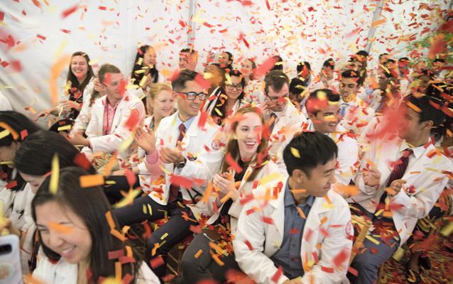 Weill Cornell Medicine students celebrate